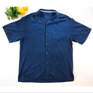 TOMMY BAHAMA 100% Silk Shirt Original Fit Medium